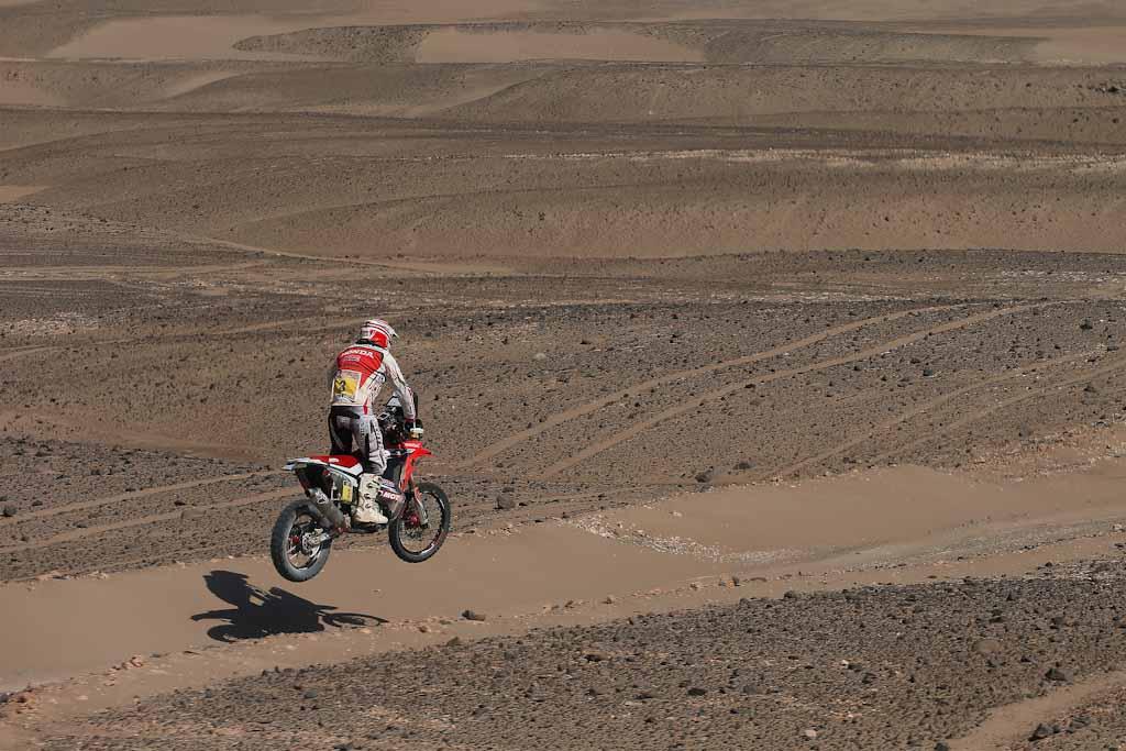 Joan Barreda (Honda) en el Dakar 2014