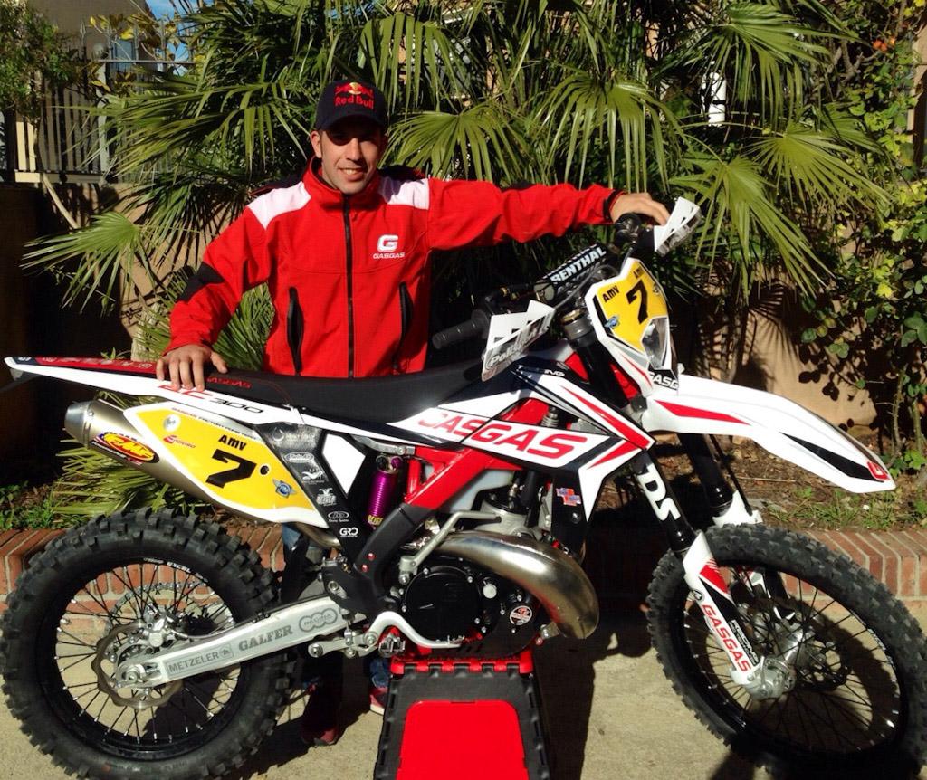 Jonathan Barragán con su nueva Gas Gas EC300