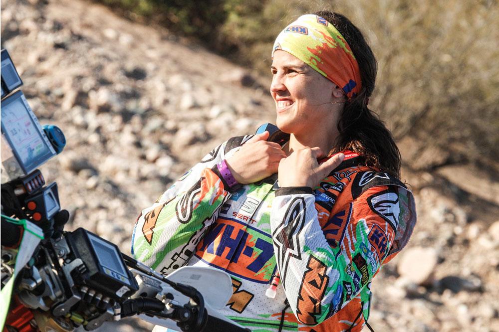 Laia Sanz durante el Dakar  2016