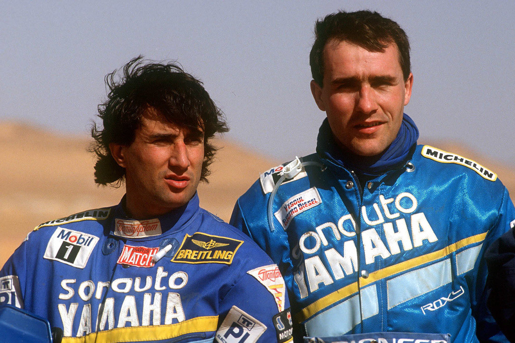 Cyril Neveu y Stephane Peterhansel