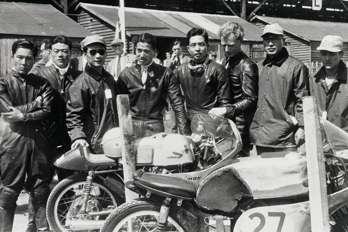 Equipo Honda en el Mundial de Motociclismo en 1959