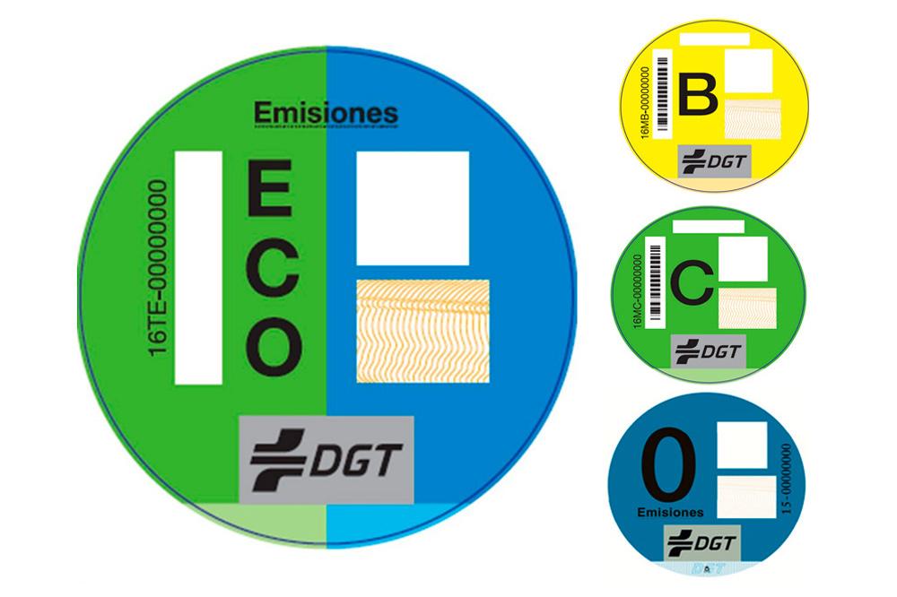 Etiquetas ecologicas para vehiculos