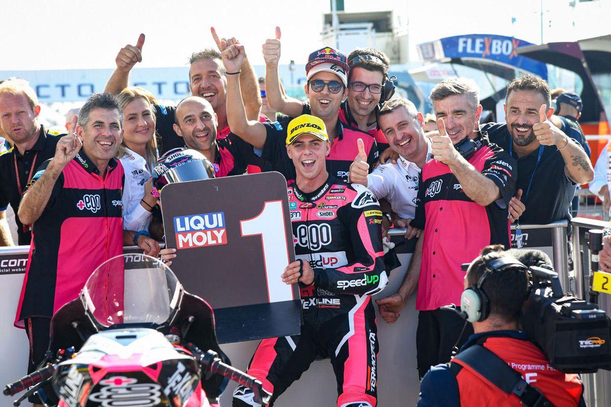 Fabio di Giannantonio logró la pole en Moto2 del Gran Premio de San Marino