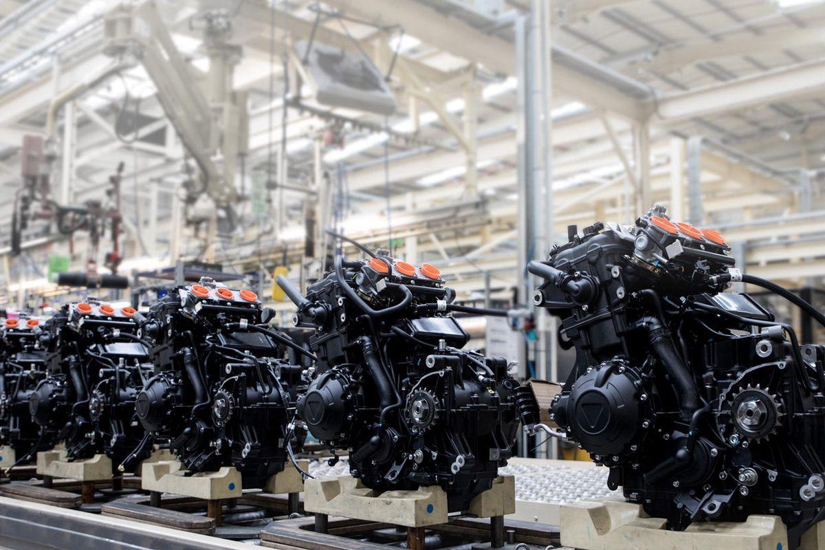 Fabricación de motores Triumph