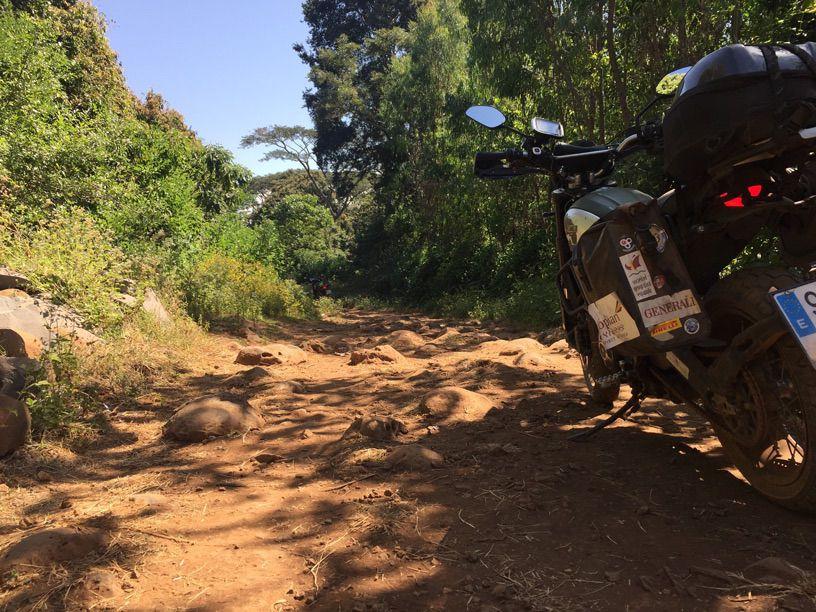Viajar en moto, desafío África