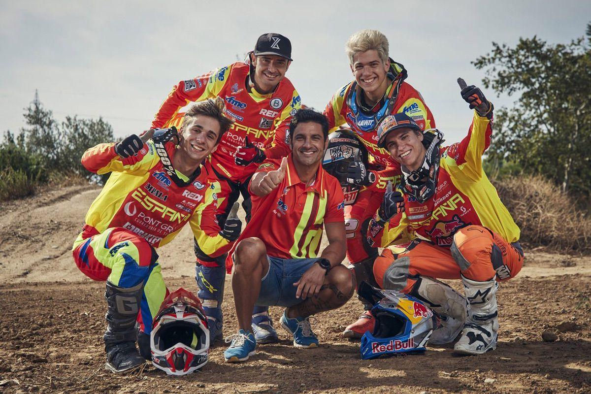 Equipación oficial del equipo español de enduro 2020