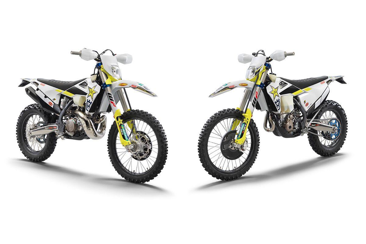 Husqvana TE 300i y FE 350 Rockstar Edition