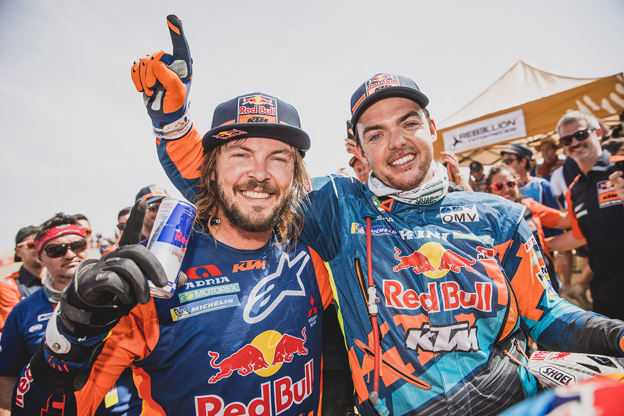 Toby Price y Matthias Walkner