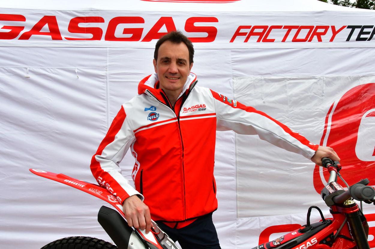 Marc Colomer, director deportivo del equipo Gas Gas en el Mundial de Trial