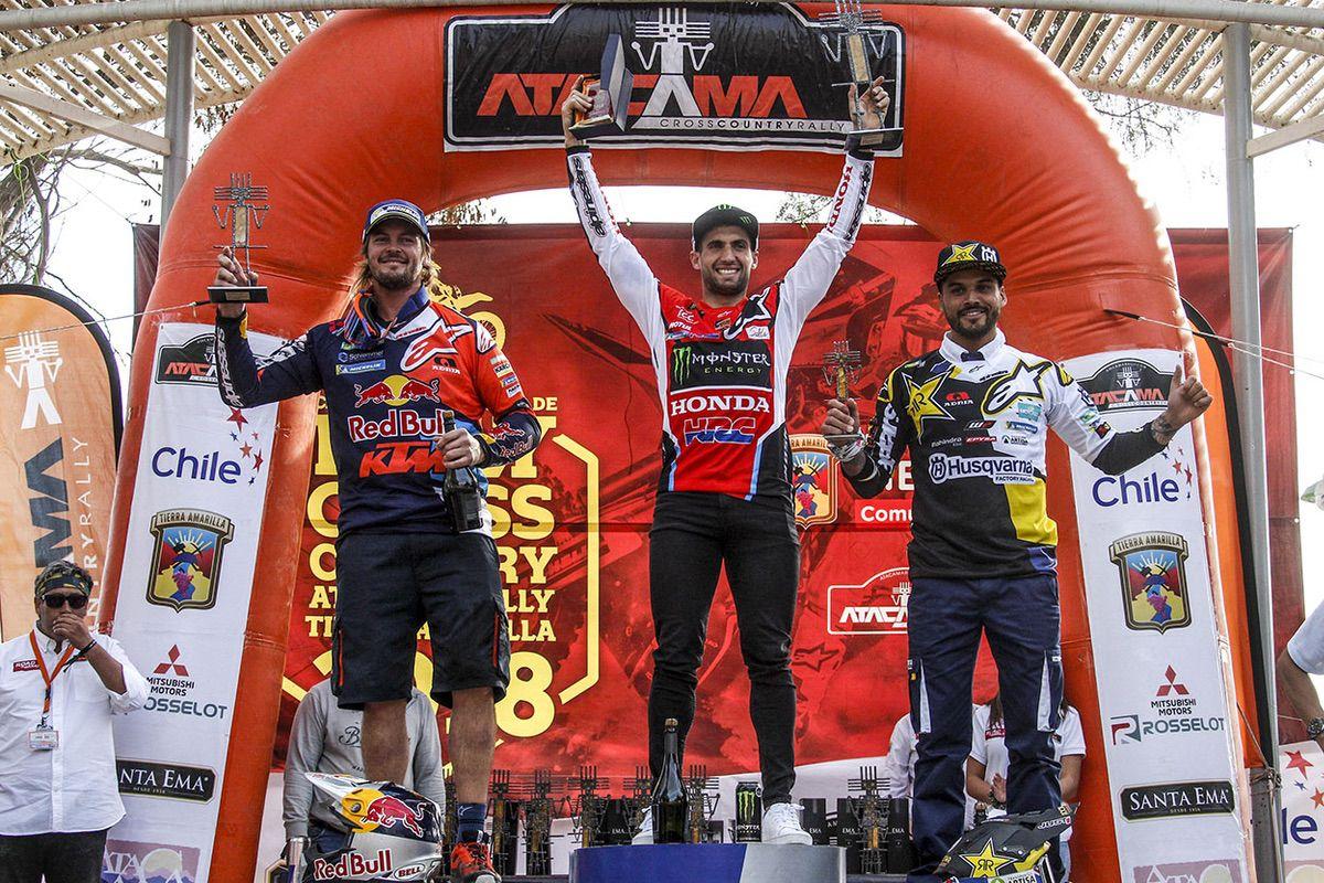 Benavides, Price y Quintanilla en el podio final del Atacama Rally 2018