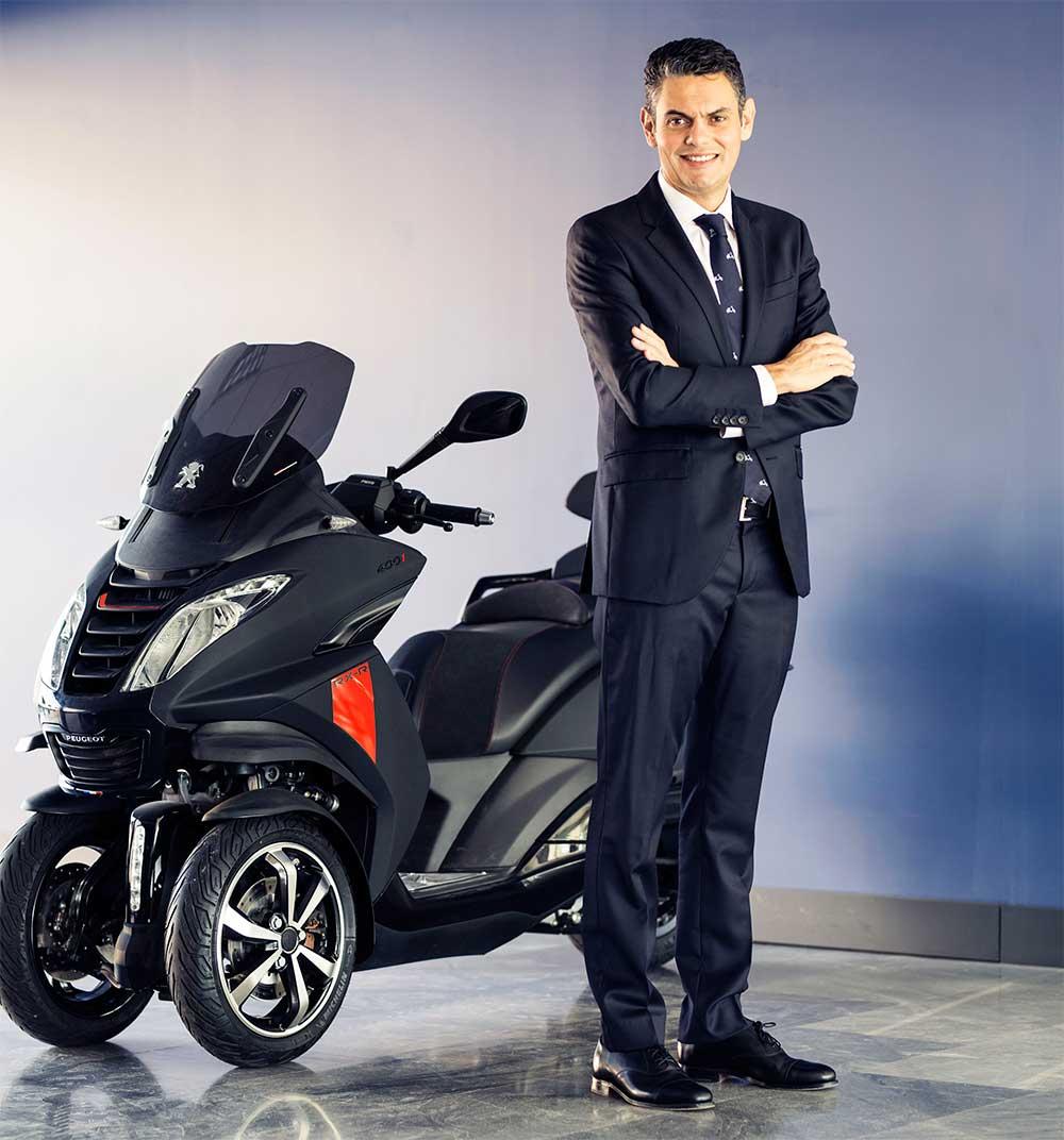 Francisco Domínguez: nuevo Director General de Peugeot Scooters España