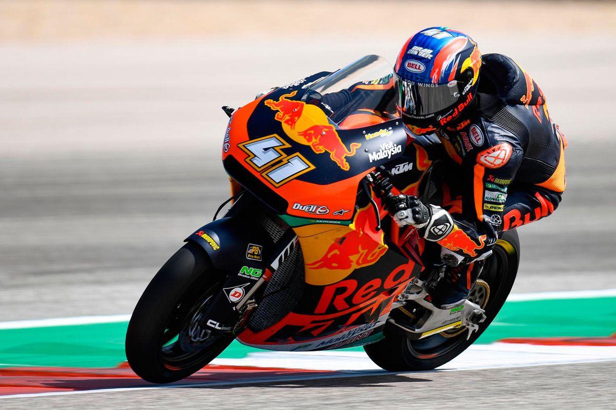 Brad Binder durante los entrenamientos del GP de España en la categoría Moto2