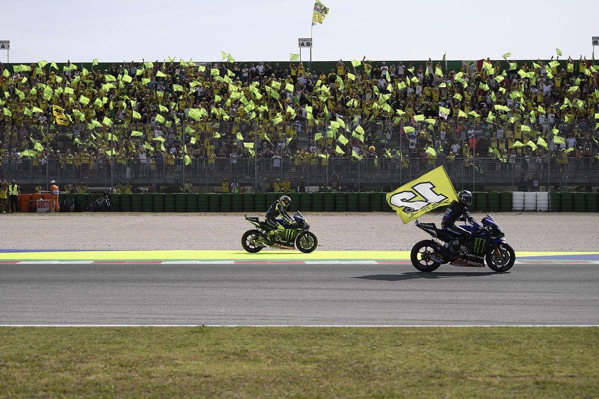 Gradas de aficionados en el Gran Premio de San Marino