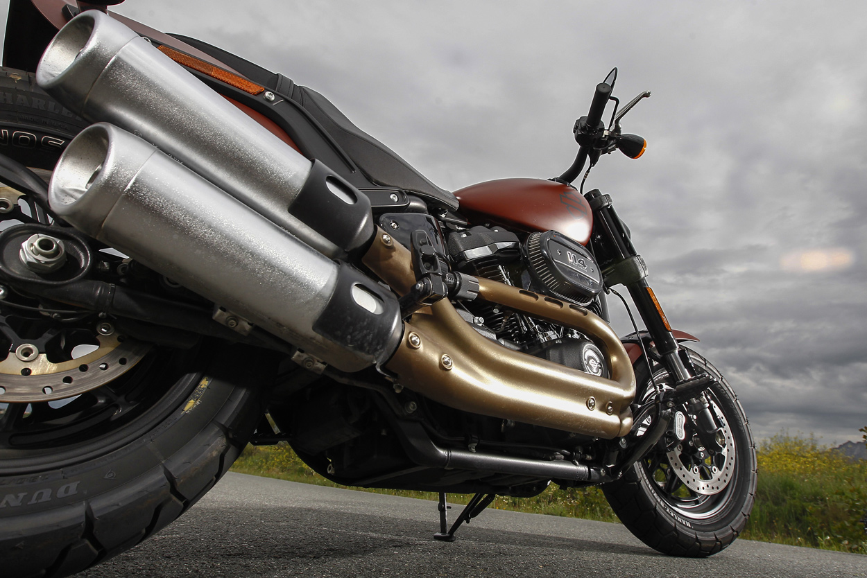 Escape de la Harley Davidson Fat Bob