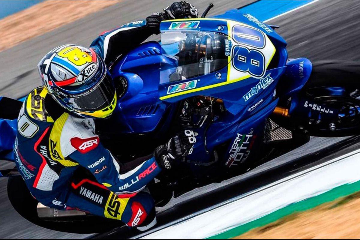 Héctor Barberá durante la carrera de Australia del Mundial de Supersport en Australia
