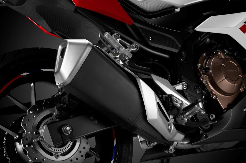 Silenciador y escape de la Honda CBR 500R