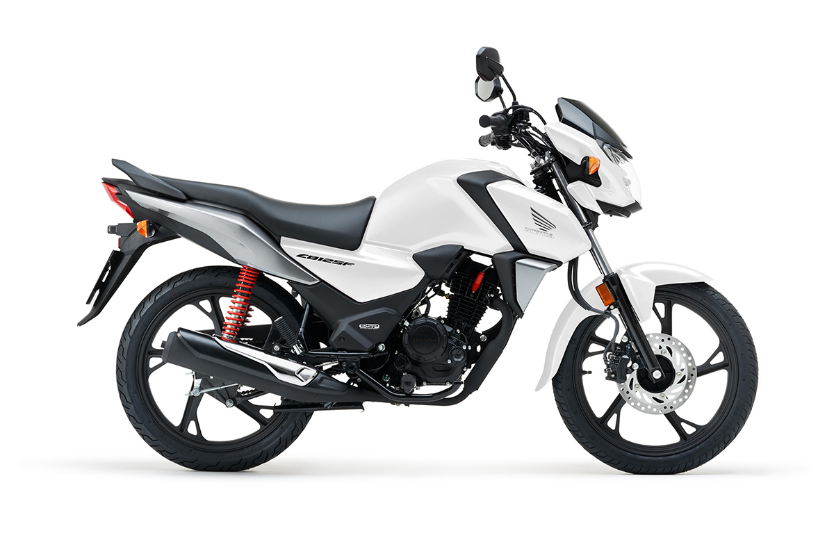 Nueva Honda CB125F 2021 color Blanco Cool Perlado