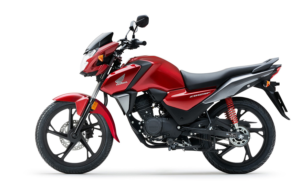 Nueva Honda CB125F 2021 color Rojo Splendor Red