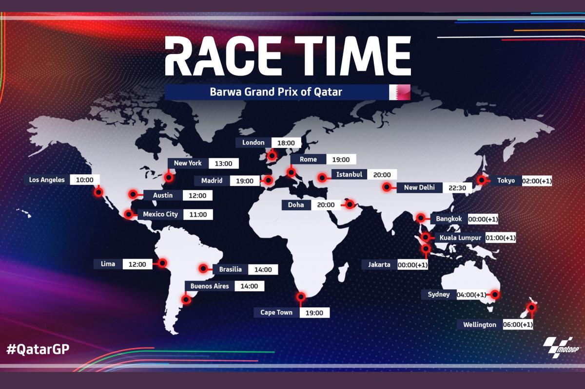 Gran Premio de Qatar: Horarios