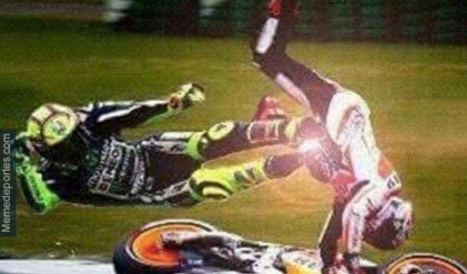 Los mejores memes del incidente entre Rossi y Márquez