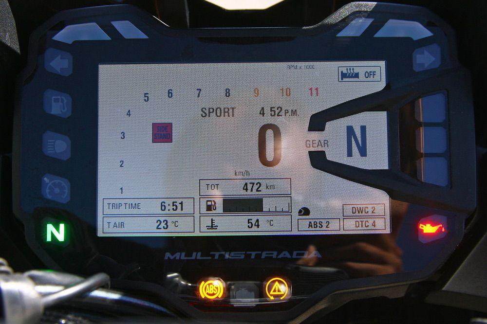 Instrumentación de la Ducati Multistrada Enduro