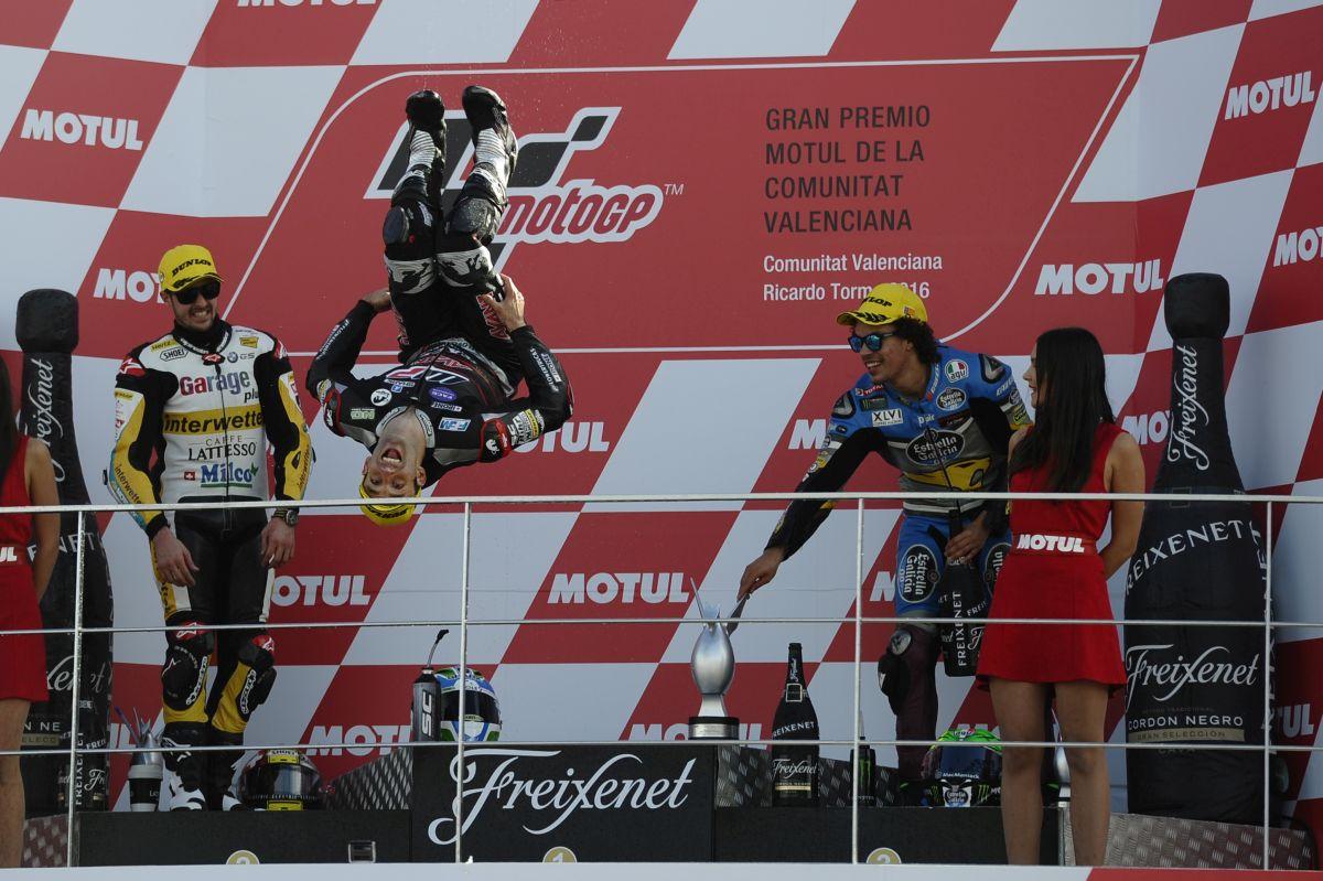 Podio de GP de Valencia de Moto2