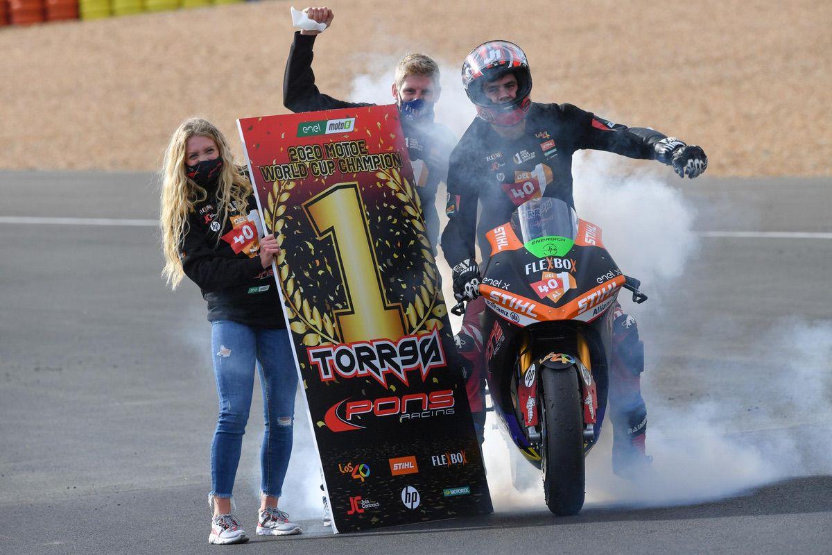 Jordi Torres, campeón de la Copa del Mundo de MotoE
