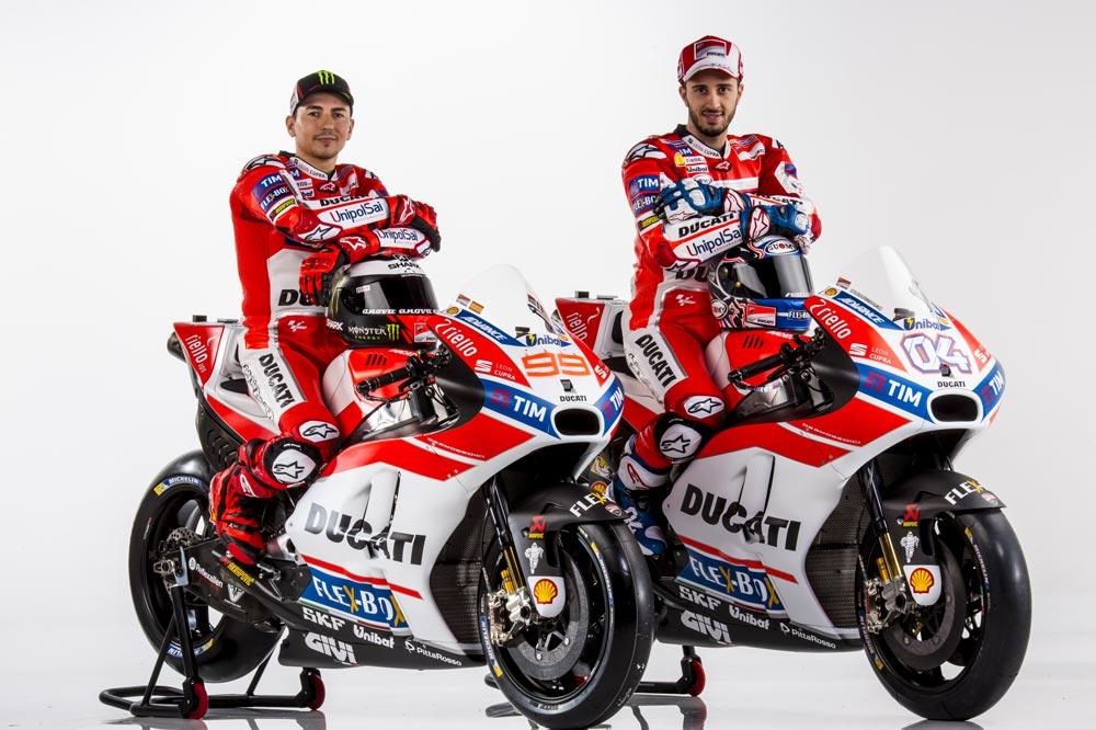 Jorge Lorenzo y Andrea Dovizioiso, Ducati MotoGP 2017