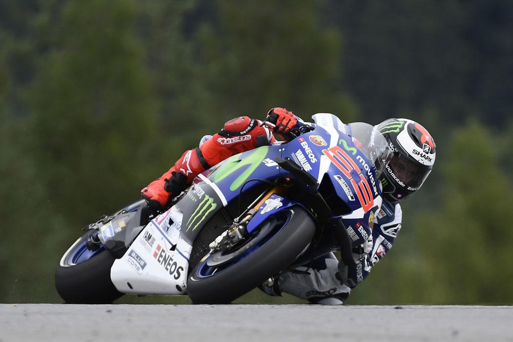 Jorge Lorenzo durante los entrenamientos MotoGP en Brno