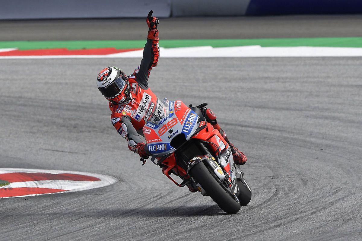 Victoria de Jorge Lorenzo en el GP de Austria