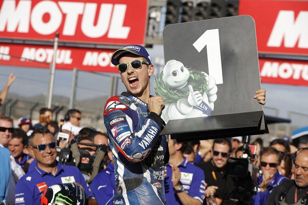 Victoria de Jorge Lorenzo con Yamaha en el GP de Valencia MotoGP
