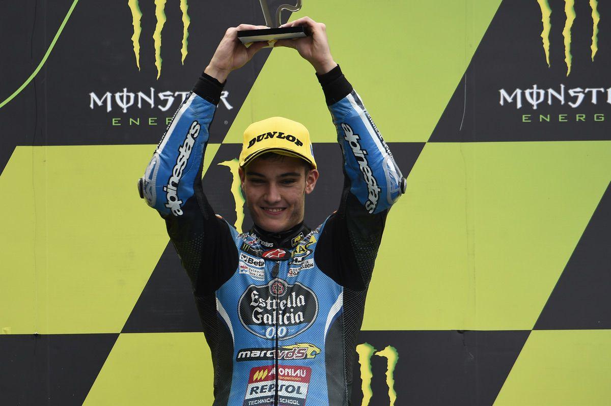 Jorge Navarro se sube al podio en el GP de Francia de Moto3