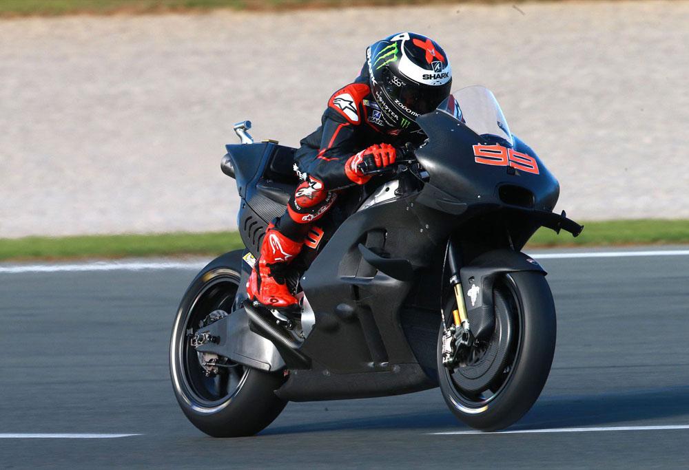 Jorge Lorenzo con Ducati en los test de Cheste