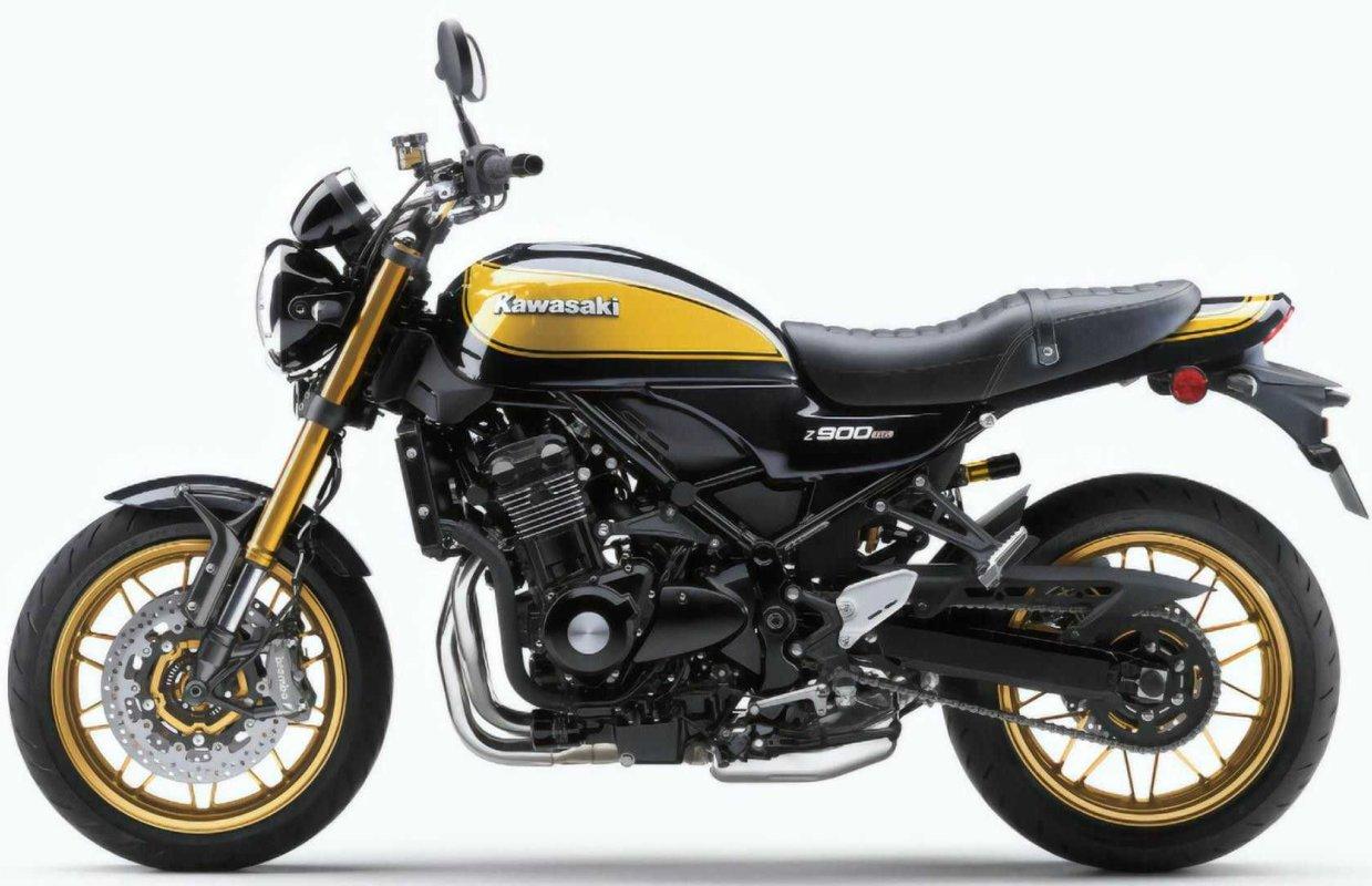 """Nueva Kawasaki Z900 RS """"SE"""": amarilla-oro y con amortiguador Ohlins"""