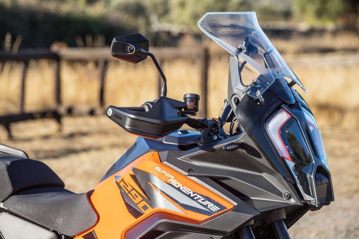 KTM 1290 S parabrisas en posición alta