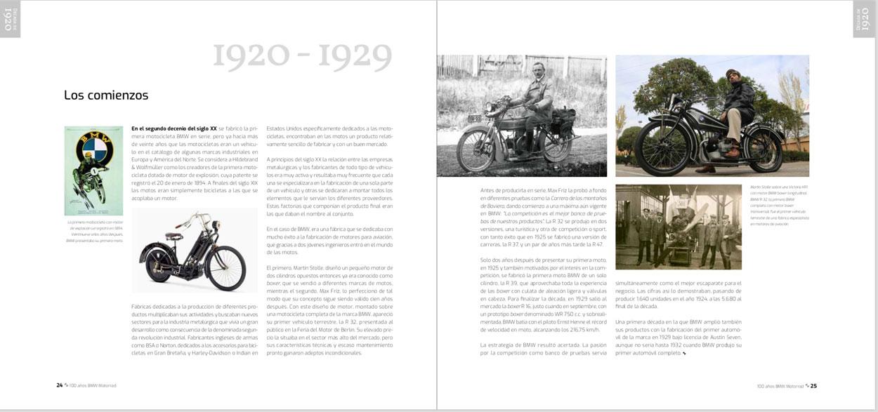 Páginas del libro 100 Años BMW Motorrad