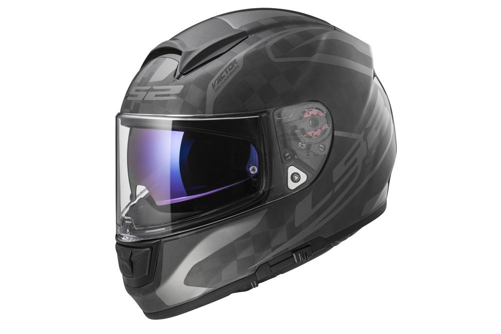 Casco de moto LS2 Vector, en fibra de carbono