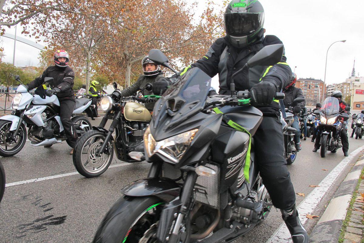 Manifestaciones de motoristas en varias ciudades de España