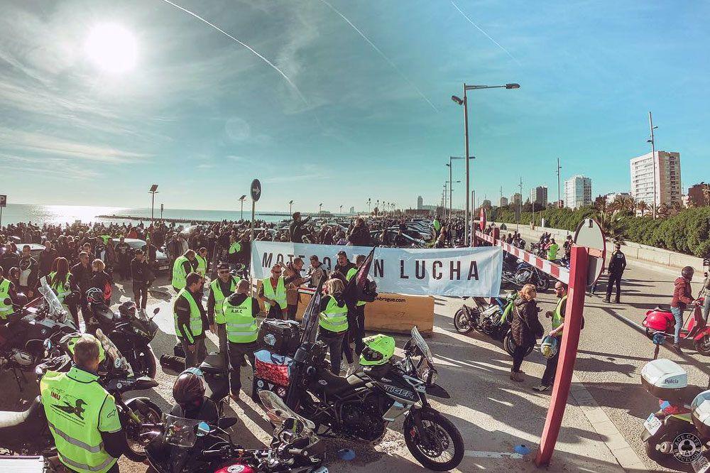Manifestaciones de motos en Barcelona