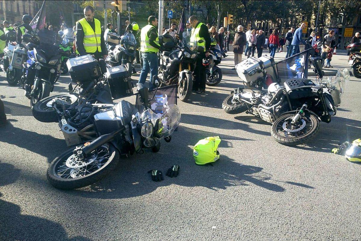Manifestaciones motos en Barcelona