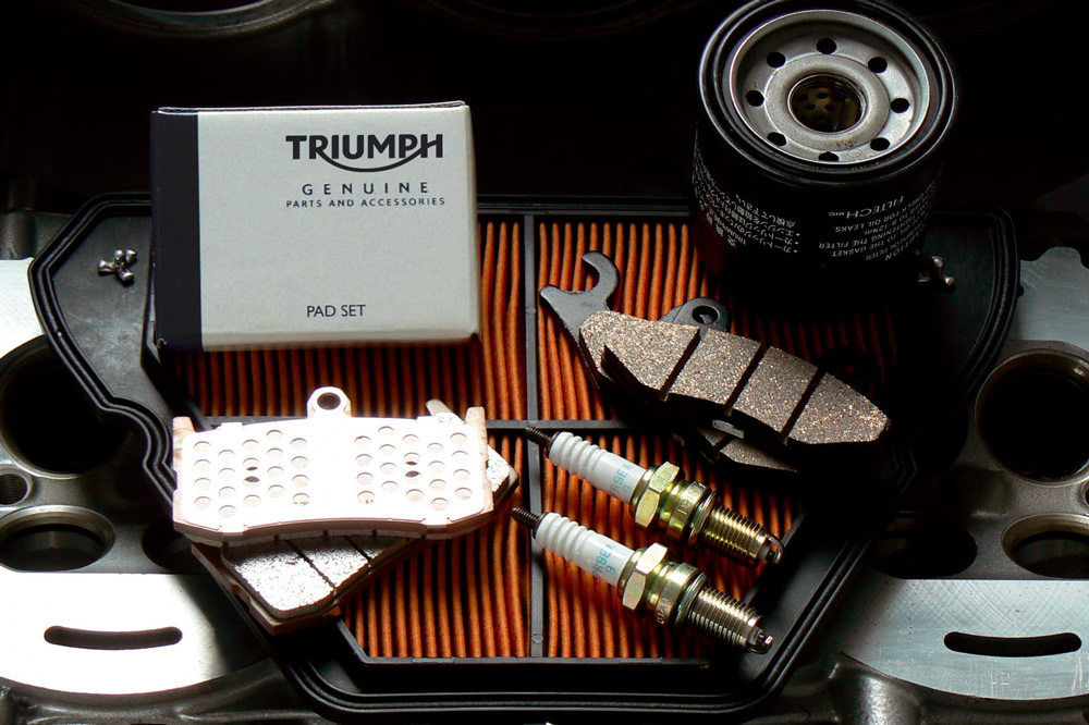 Plan de mantenimiento para motos Triumph