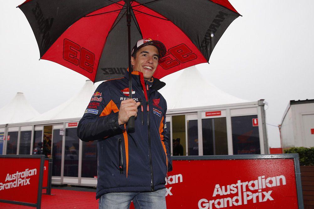 Marc Marquez en Australia, la carrera de mañana será una incógnita