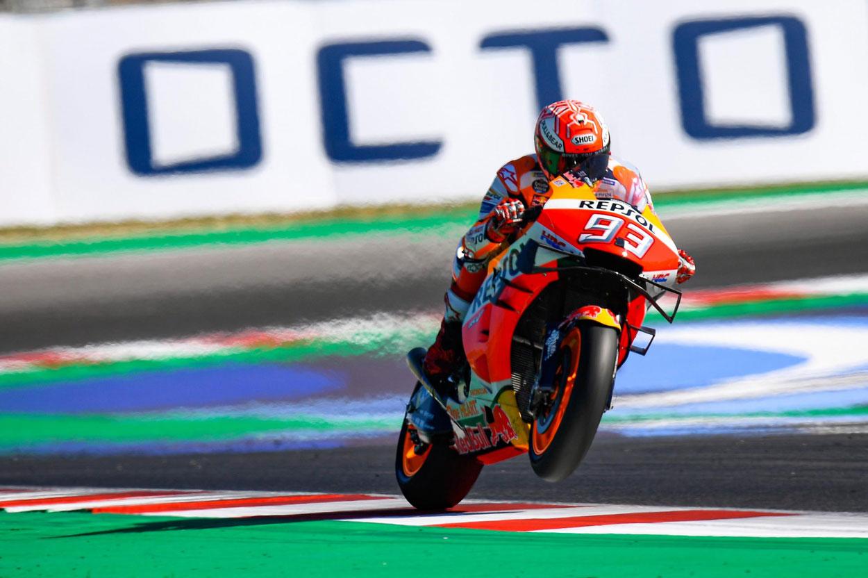 Marc Márquez logró la victoria del Gran Premio de San Marino