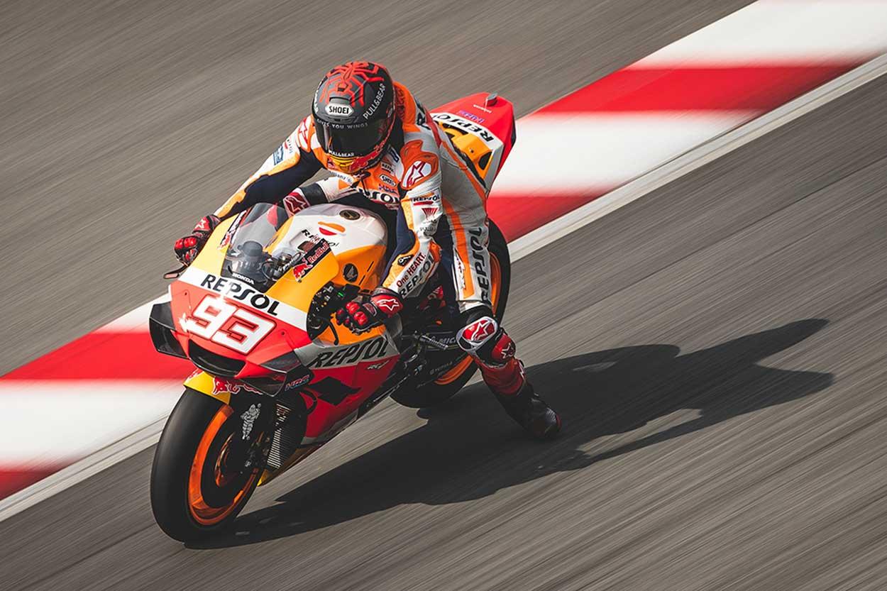 Marc Marquez durante los entrenamientos MotoGP en Malasia