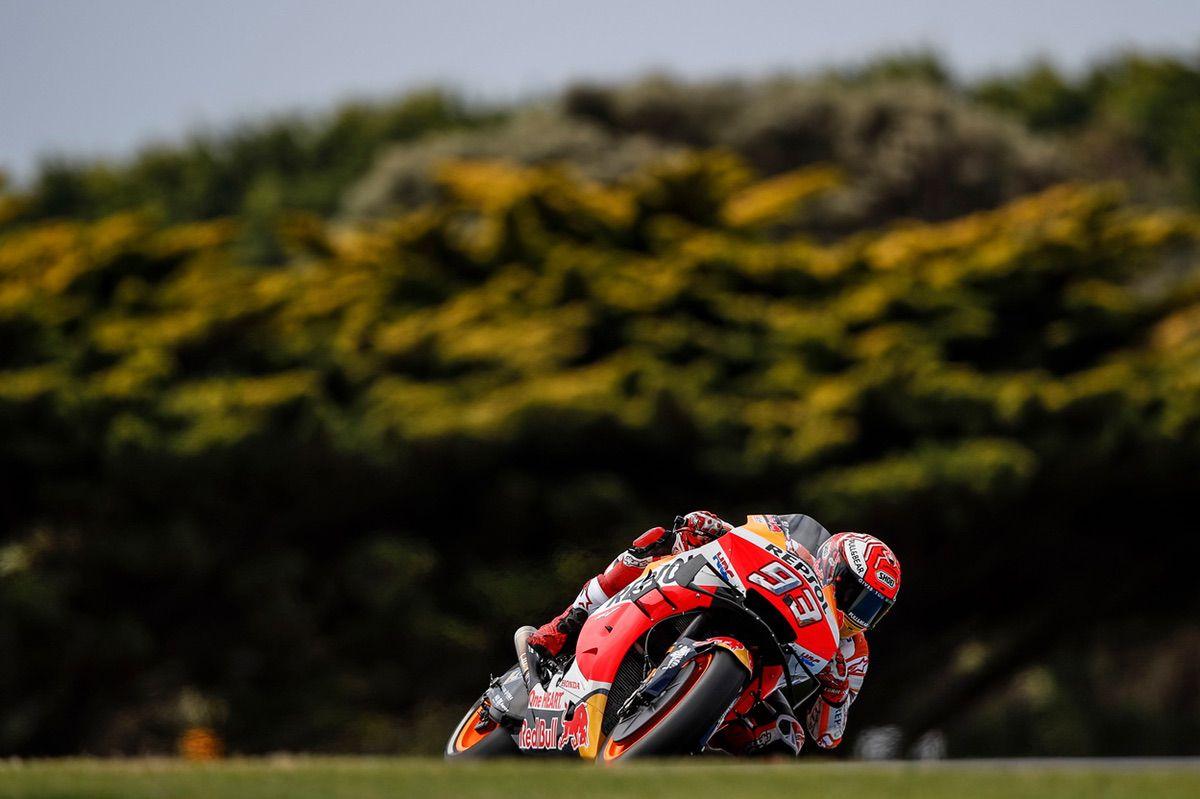 Marc Márquez durante los entrenamientos del GP de Australia de MotoGP