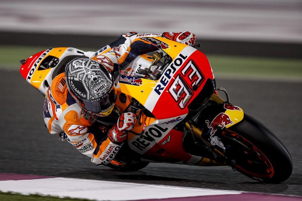 Marc Marquez durante los entrenamientos en Qatar 2017