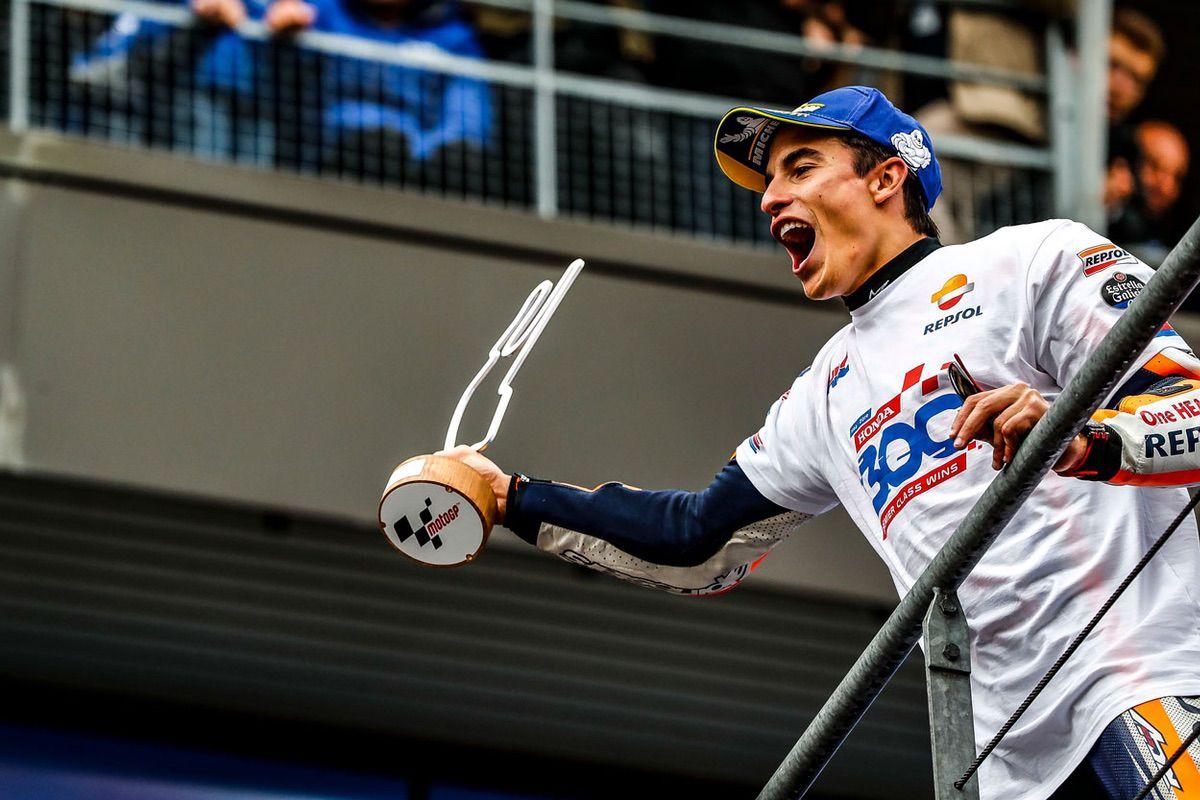 Marc Márquez logró la victoria en el GP de Francia en la categoría MotoGP