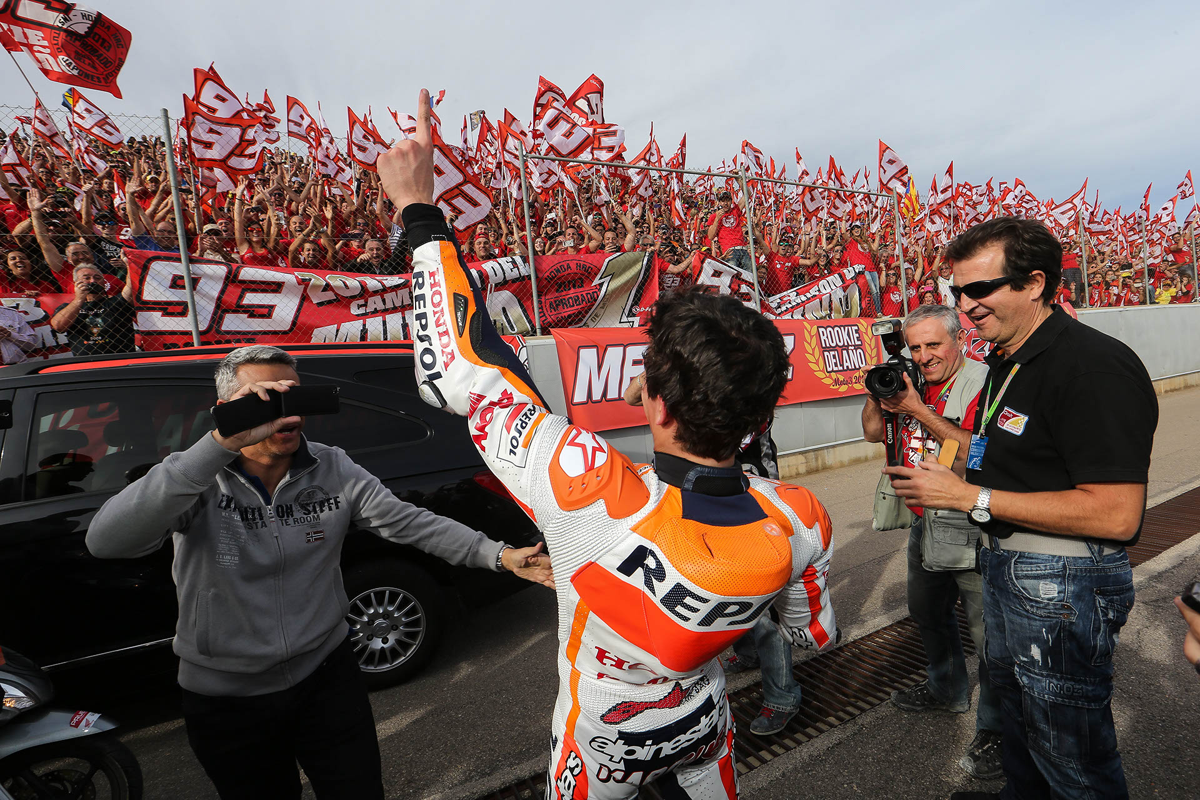 Marc Márquez con fans
