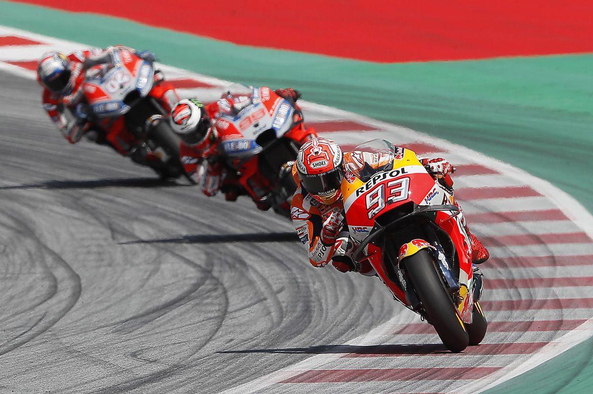 Marc Marquez, Lorenzo y Dovizioso en el GP de Austria