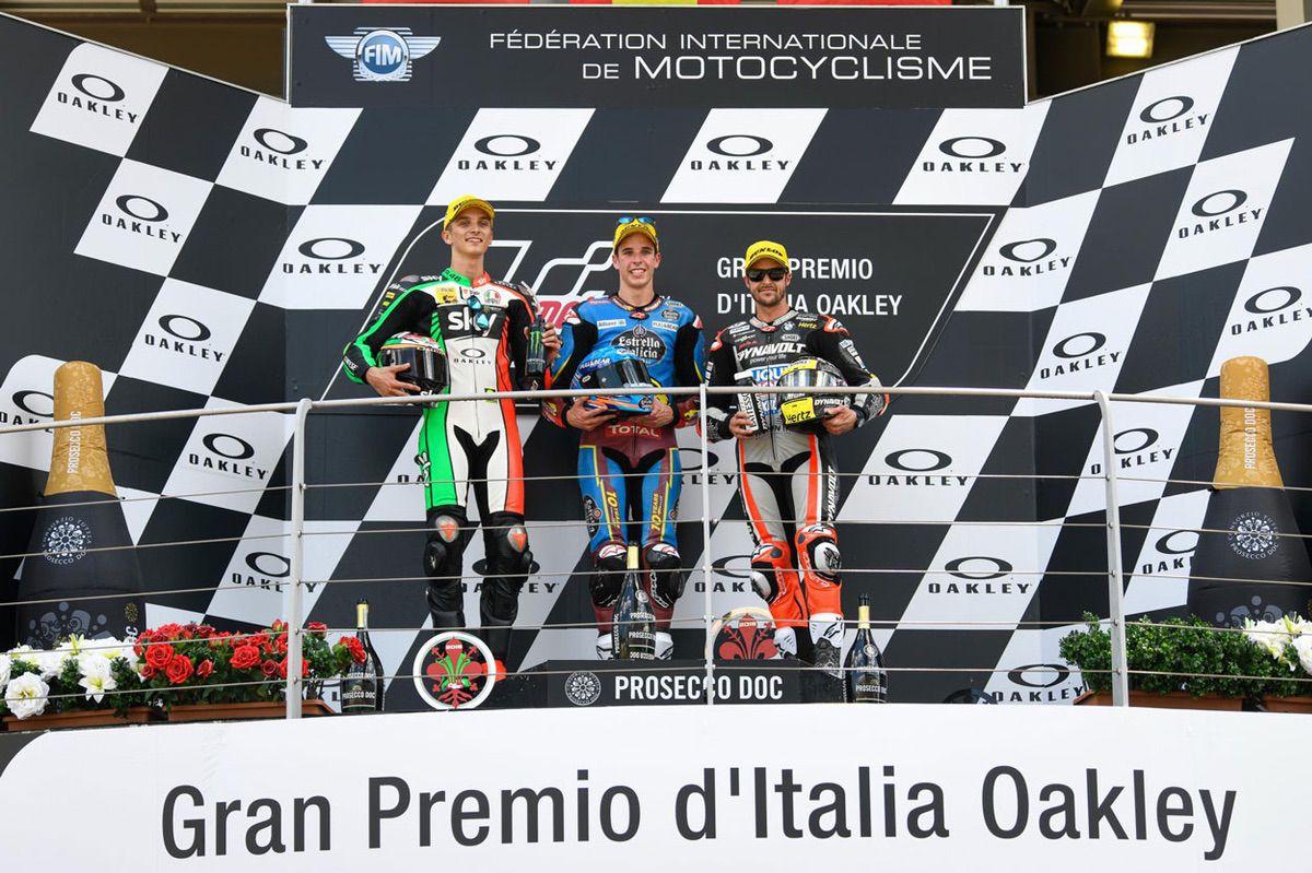 Podio del GP de Italia en la categoría Moto2
